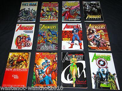 (12)Marvel TPBs THE AVENGERS / NEW AVENGERS / WEST COAST AVENGERS SRP$242.+