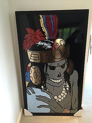 Hergé- tintin- plaque émaillée rascar capac 130X70 no fariboles no aroutcheff