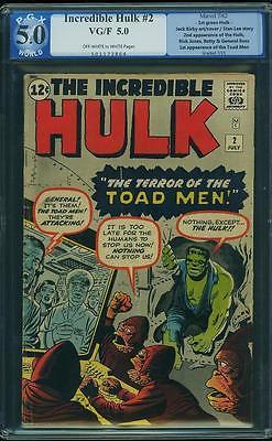 Hulk #2 PGX 5.0 Marvel 1962 1st Green Hulk Avengers Like CGC E12 564 1 cm SALE