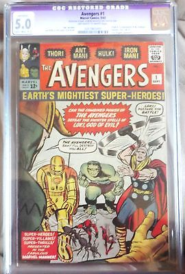 silver age Avengers 1 CGC 5.0 Restored