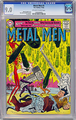 Metal Men #1 CGC 9.0 VF/NM Off-White/White Pages DC 1963 CGC 1205938002