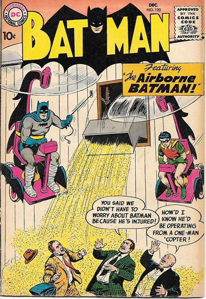 Batman Comic Book #120, DC Comics 1958 VERY GOOD+