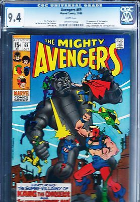 AVENGERS #69 CGC 9.4 WHITE PAGES FIRST APPEARANCE OF SQUADRON SINISTER (1969)
