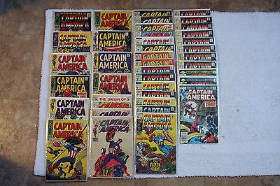 Captain America Lot of 40 Comics Issues 100, 109, 111, 117, 118, 133 and More