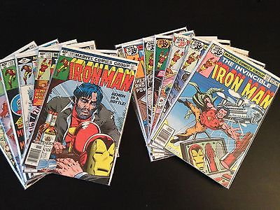Iron Man 116-128 Complete Run/Set VF 118/126 1st Jim Rhodes Alcohol Layton