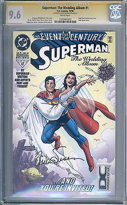 Superman The Wedding Album #1 CGC SS Signed 9.6 Louise Simonson