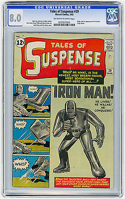 Tales of Suspense #39 CGC 8.0 OW/W MEGA KEY Origin & 1st app Marvel Silver Age