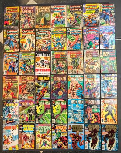 LOT OF 42 MARVEL COMICS - CAPTAIN AMERICA #101 - TALES OF SUSPENSE - IRON MAN #1