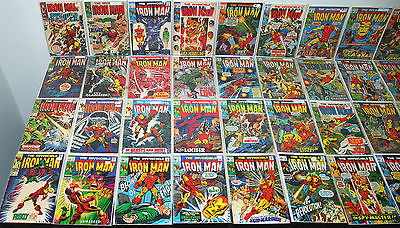 PARTIAL RUN LOT OF 145 IRON MAN #1-300 + ANNUALS #1-15 SILVER BRONZE COPPER