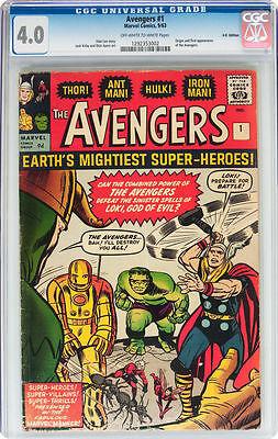 Avengers #1 4.0 Marvel 1963 Thor Iron Man Hulk UK Edition E12 122 cm