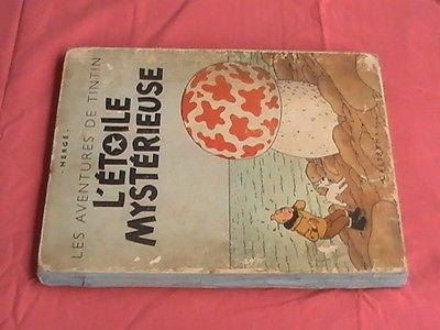 ancien album tintin l'étoile mystérieuse B1 de 1946 - Hergé -