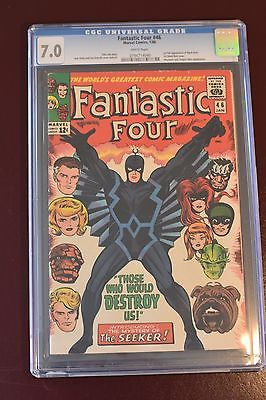 Fantastic Four 46 CGC 7.0 1966 Marvel First App Black Bolt Inhumans