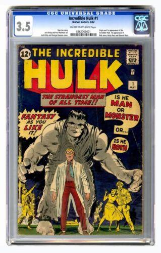 Incredible Hulk #1 CGC 3.5 Unrestored Avengers Iron man Captain America Thor 100