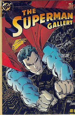 DC - The SUPERMAN GALLERY #1 1993 Signed Ltd. Edition,6 Signatures #882 of 5000