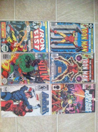Iron Man 100 & 122, Rocket Raccoon 1, Iron Fist 1, The Incredible Hulk 300