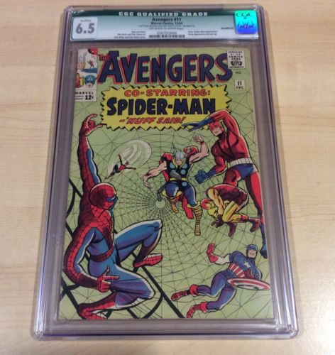 Avengers #11 CGC 6.5 Qualified Marvel 1964 Early Spider-Man Appearance
