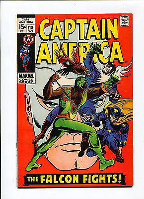 Captain America #118 Newsstand High Grade NM- 9.2 2nd Falcon Marvel Bronze Comic