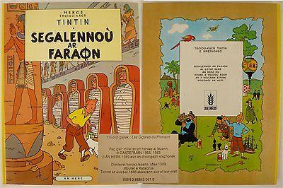 TINTIN HERGE en Breton 1500ex.- CIGARES du PHARAON - SEGALENNOU ar PHARAON -1989