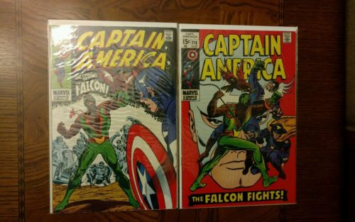 Captain America #117+118 -silver age-Marvel 1st and 2nd appearance of falcon