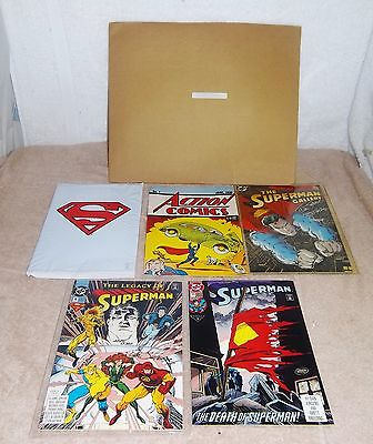 RARE 1993 Superman Gallery Sealed Set, 5 Comics, COA's Autographed #1 RARE
