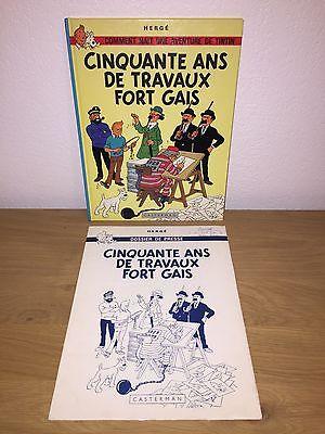 Hergé Tintin Cinquante ans de Travaux Fort Gais 2000ex. 1978 NEUF + Dossier.