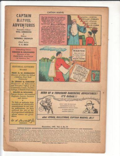 CAPTAIN MARVEL Golden Age Reading Lot #131,124,57,50 MARVEL FAMILY #57 Bargains