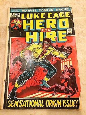 Luke Cage Hero for Hire Issue #1 Marvel Comics 1972 Original Origin Issue