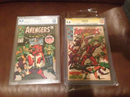 Avengers #55 cgc 9.0 SS & Avengers #54 cbcs 8.0 Very High Grade Bundle.