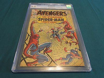 THE AVENGERS #11 CO-STARRING SPIDER-MAN - NUFF SAID CGC GRADED 6.5 #0265971004