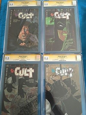 Batman: The Cult #1-4 set - DC - CGC SS 9.6 9.8 - Signed by Wrightson, Starlin