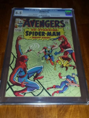 The Avengers 11 CGC 6.5 OW pages (Dec 1964, Marvel) 1st Spidey in Avengers title