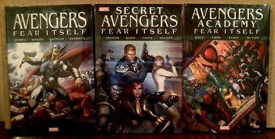 FEAR ITSELF: AVENGERS/AVENGERS ACADEMY/SECRET AVENGERS Hardcovers New/Sealed/NM