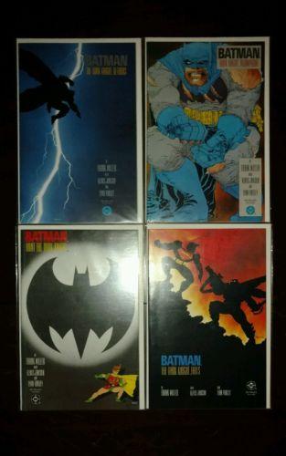 BATMAN THE DARK KNIGHT RETURNS #1,2,3,4-1986 FIRST PRINTS-TPB.  FRANK MILLER