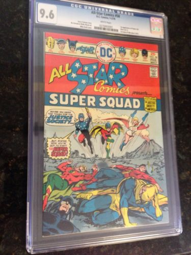 All Star Comics #58 CGC 9.6 White Pages  First Power Girl