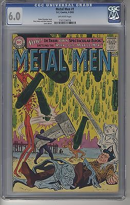 METAL MEN #1 CGC 6.0 KEY Issue DC Silver Age 1st Issue