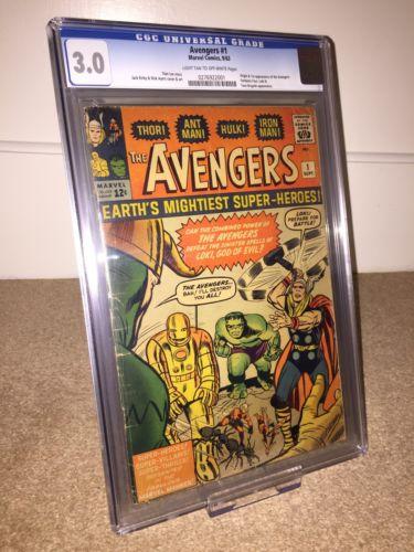 Avengers #1 (1963) CGC 3.0 First App Of The Avengers FF & Loki App, Marvel