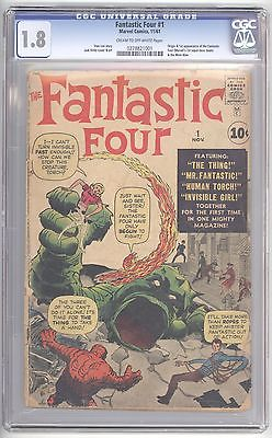 Fantastic Four #1 CGC 1.8 1st appearance & origin of Fantastic Four Must See