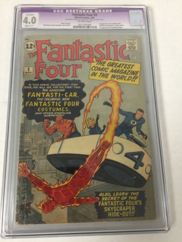 Fantastic Four 3 Cgc 4.0 C-1 Restoration Tear Seals Only