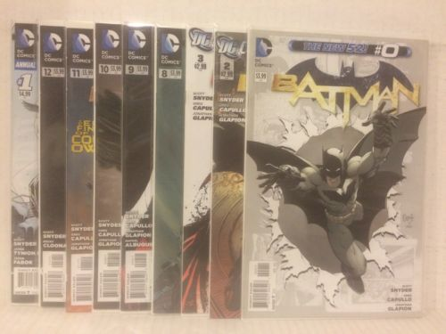 Batman New 52 9 Comic Lot/Run DC Night of the Owls Annual Mr Freeze 0 Capullo