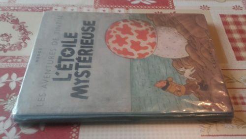 ancien album de tintin l'étoile mystérieuse monocolonne B1 de 1946 - Hergé -