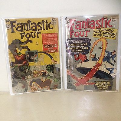 Fantastic Four #2 Fantastic Four #3 Second Fantastic Four First Skrulls 1961