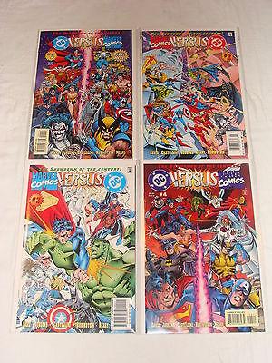 DC Versus Marvel / Marvel Versus DC #1 2 3 4 (Feb 1996) Complete Run 1-4 NM