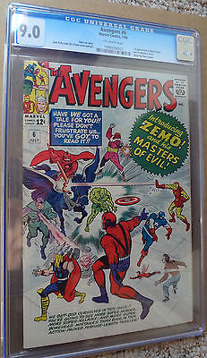 Avengers 6 CGC 9.0 1st Baron Zemo & Masters of Evil   A 4 - 112