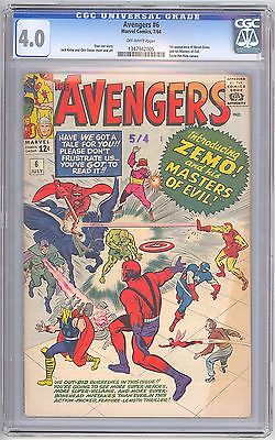 Avengers 6 CGC 4.0 1st Baron Zemo & Masters of Evil - Civil War Movie 1347942005