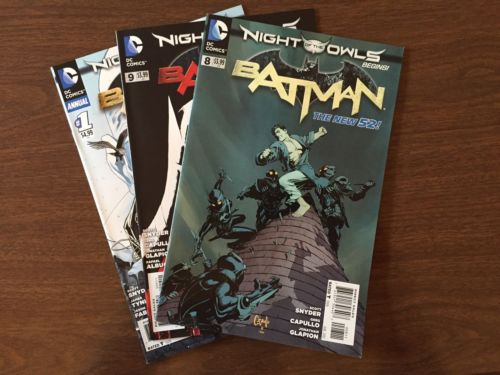 Batman (2011) #8,9 & Annual #1 The New 52 Night Of The Owls 1st Print