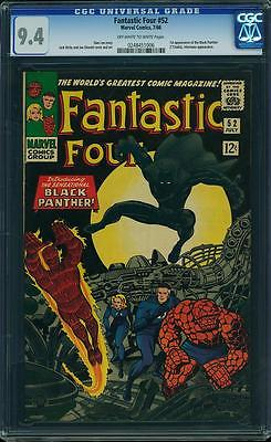 Fantastic Four #52 CGC 9.4 NM- Marvel 1st Black Panther / KEY CGC 9.4 !!!