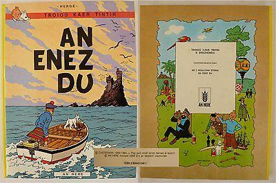 TINTIN HERGE en Breton 1500ex.- L'ILE NOIRE- AN ENEZ DU - An Héré 1988
