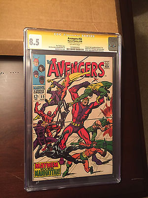 Avengers #55 - 1st Appearance of Ultron - CGC 8.5 SS Lee  - Movie - Key