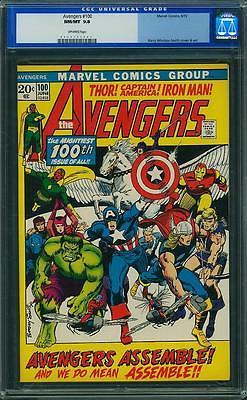 Avengers #100, CGC 9.8, Barry Windsor Smith, Iron Man Thor Captain America Hulk
