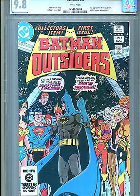 BATMAN AND THE OUTSIDERS #1 CGC 9.8 2ND APP OUTSIDERS DC COMICS 1983
